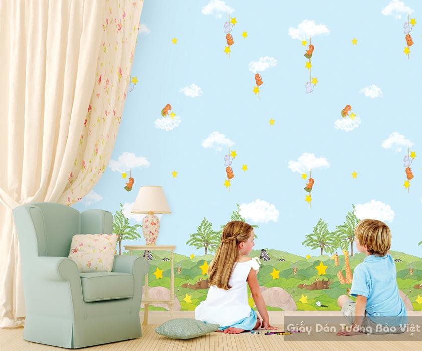 Giấy Dán Tường Phòng trẻ em-A1029-1m