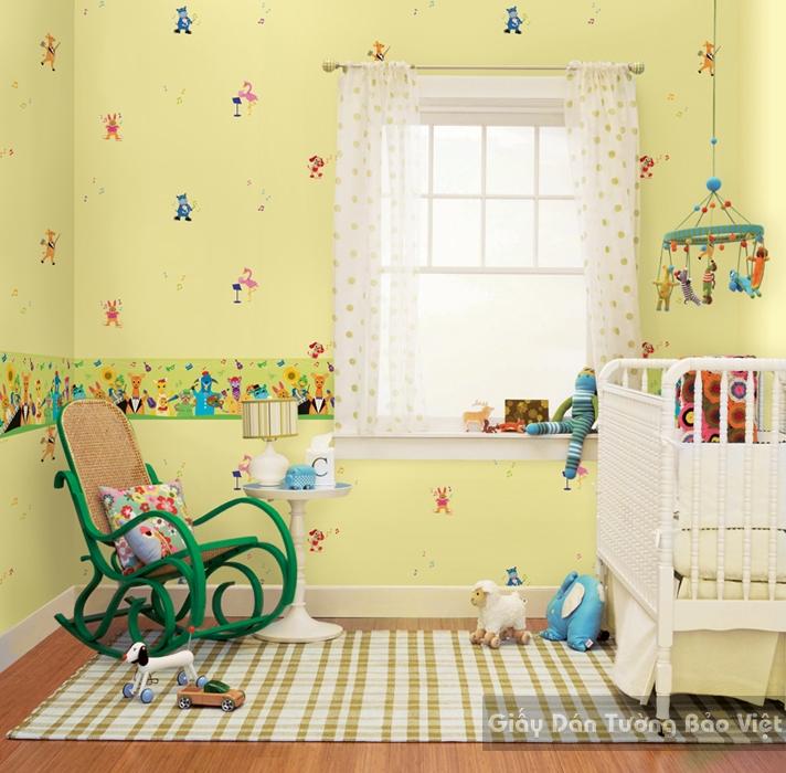 Giấy Dán Tường Phòng trẻ em-D1022-1m