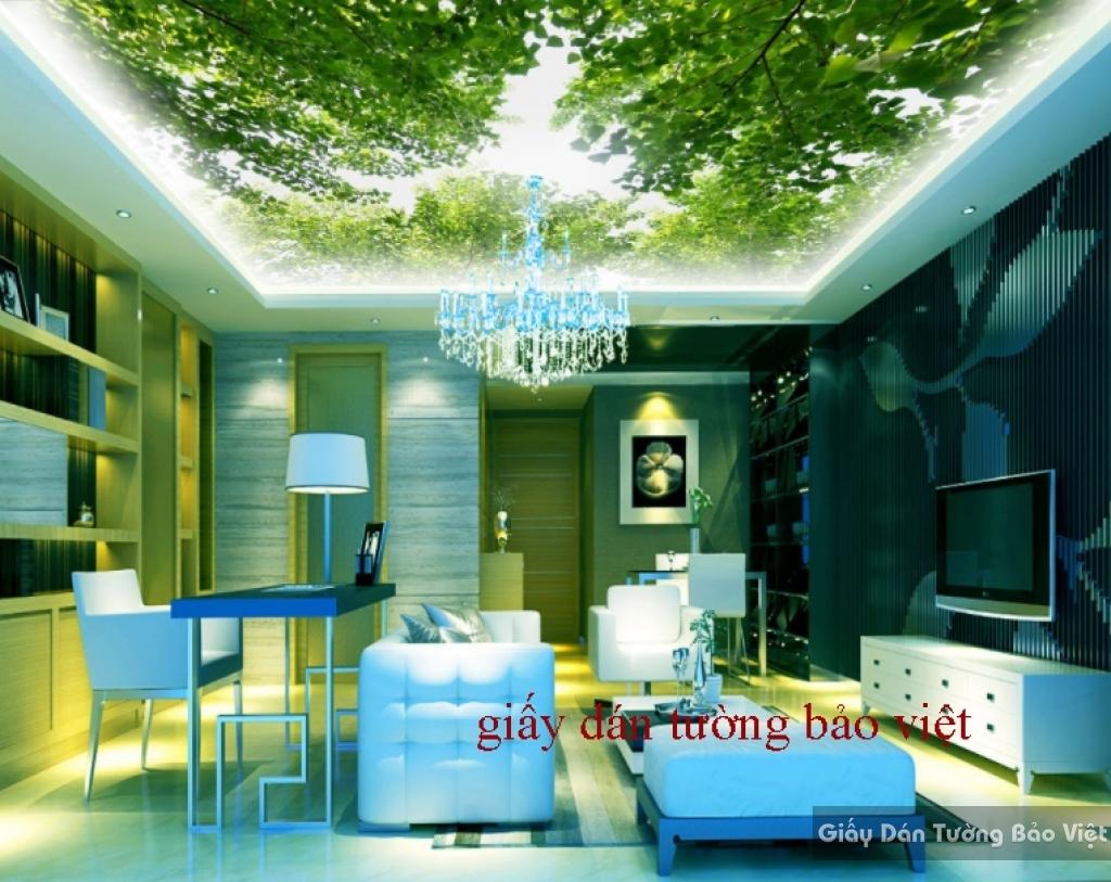 Giấy dán trần nhà phòng khách K14960818