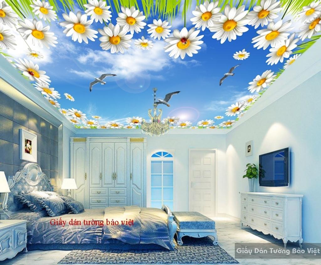 Giấy dán trần nhà phòng ngủ C085