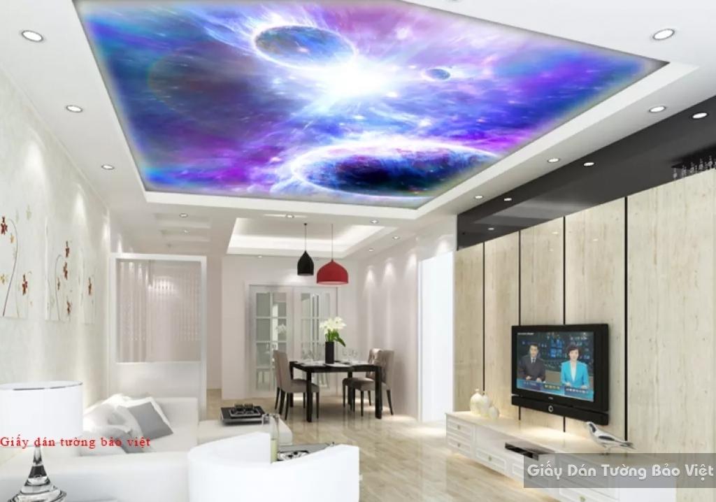 Giấy dán trần nhà phòng ngủ C092