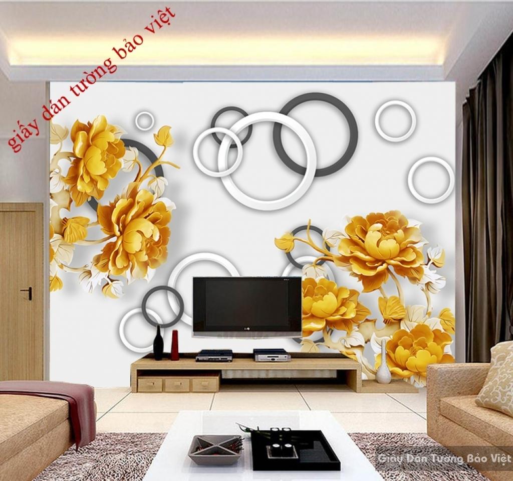 Giấy dán tường 3D-025 cho vách tường tivi