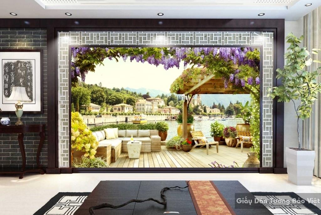 Giấy dán tường 3D Phong cảnh đẹp Fm084