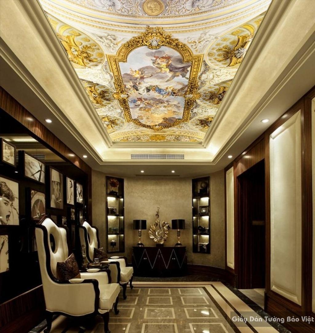Giấy dán tường 3D dán trần nhà C015