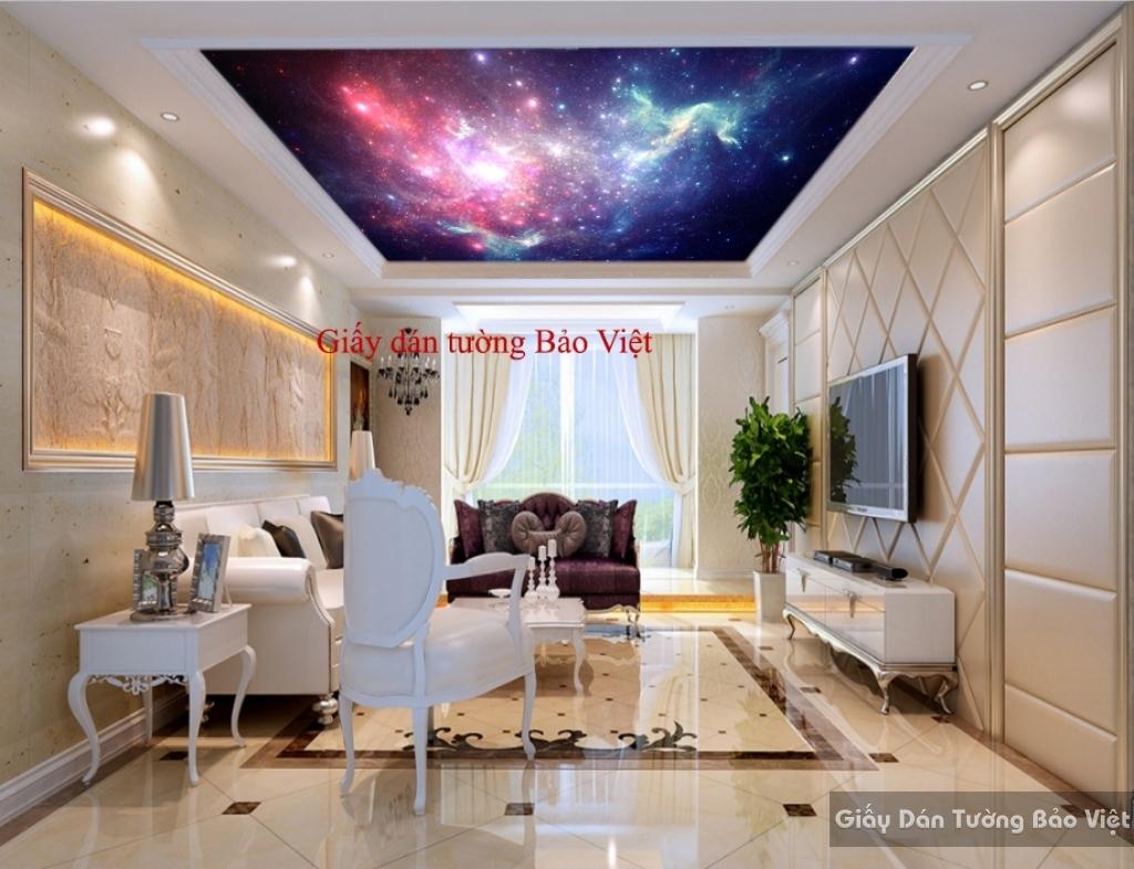 Giấy dán tường 3D dán trần nhà C069