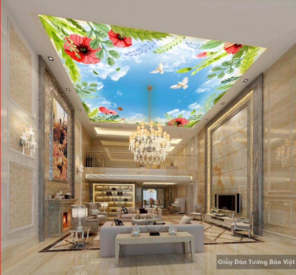 Giấy dán tường 3D đẹp dán trần nhà C025