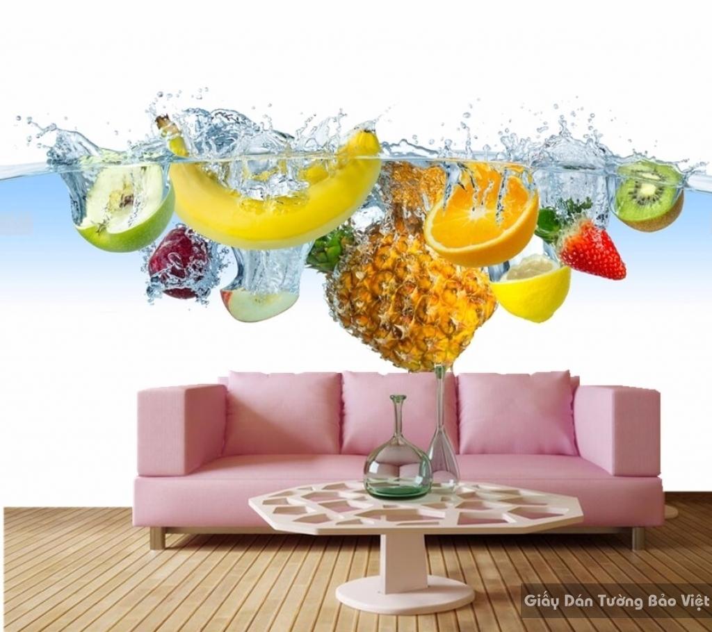 Giấy dán tường 3D hình trái cây H067