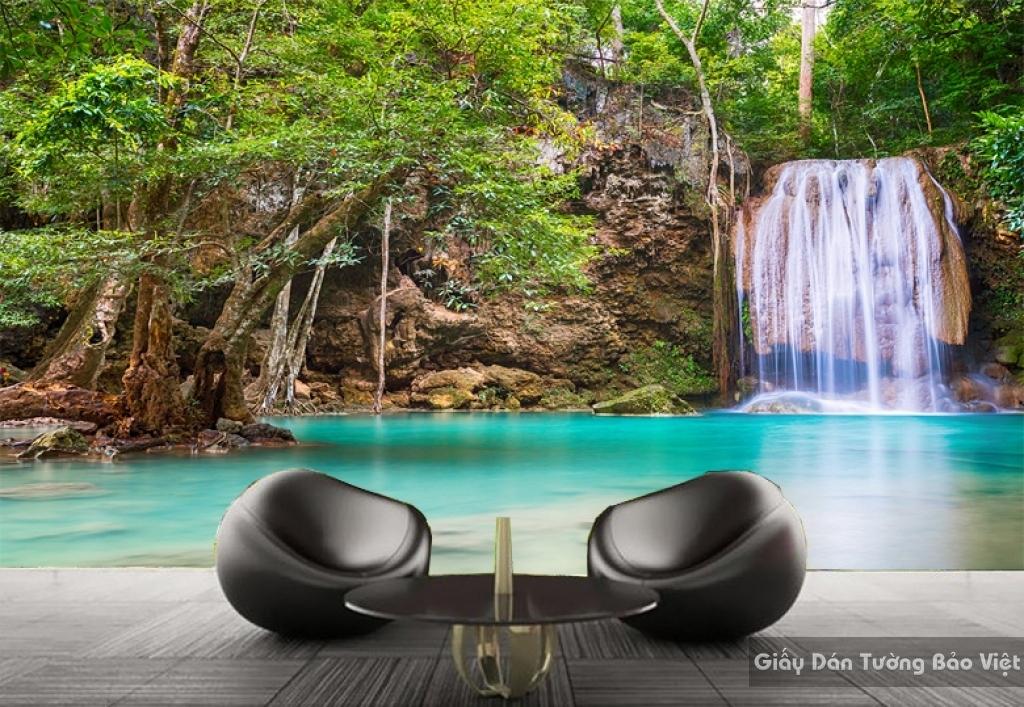 Giấy dán tường 3D phong cảnh thác nước W044