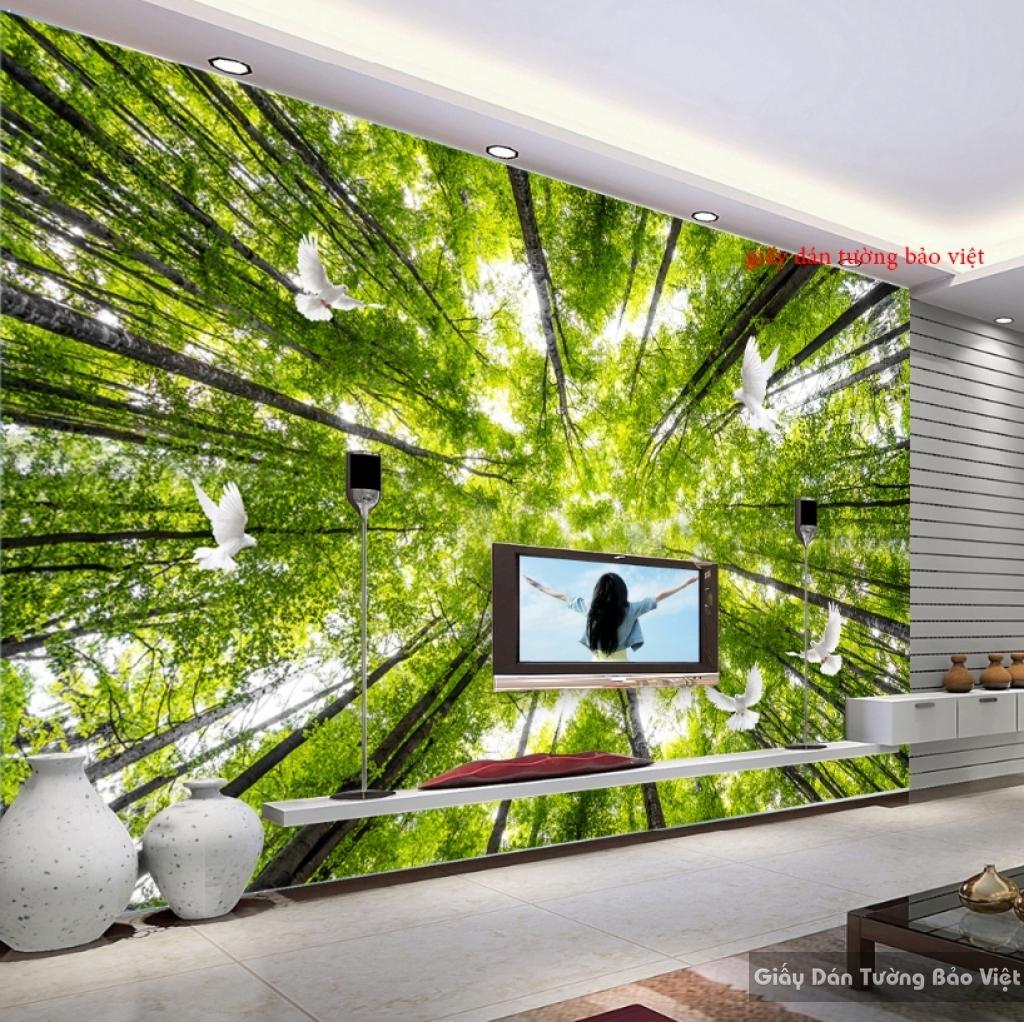 Giấy dán tường 3D thiên nhiên Tr071
