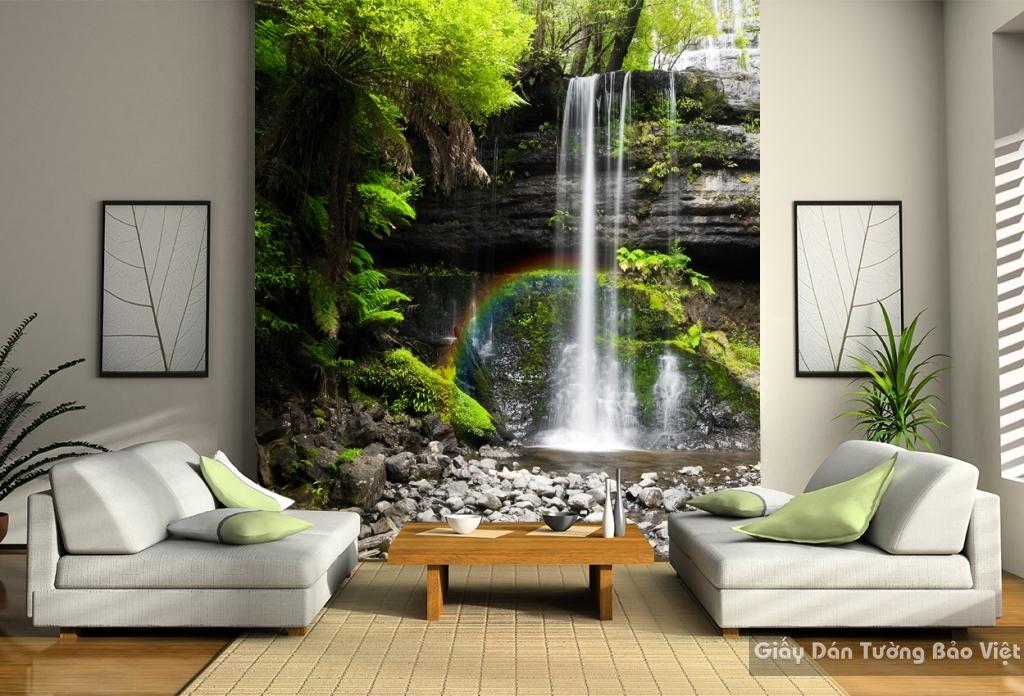 Giấy dán tường 3d thác nước W033