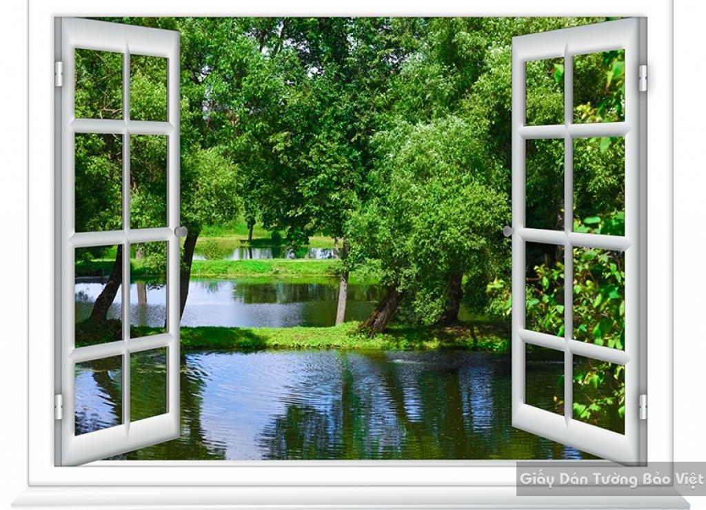 Giấy dán tường Cửa sổ phòng khách Tr069