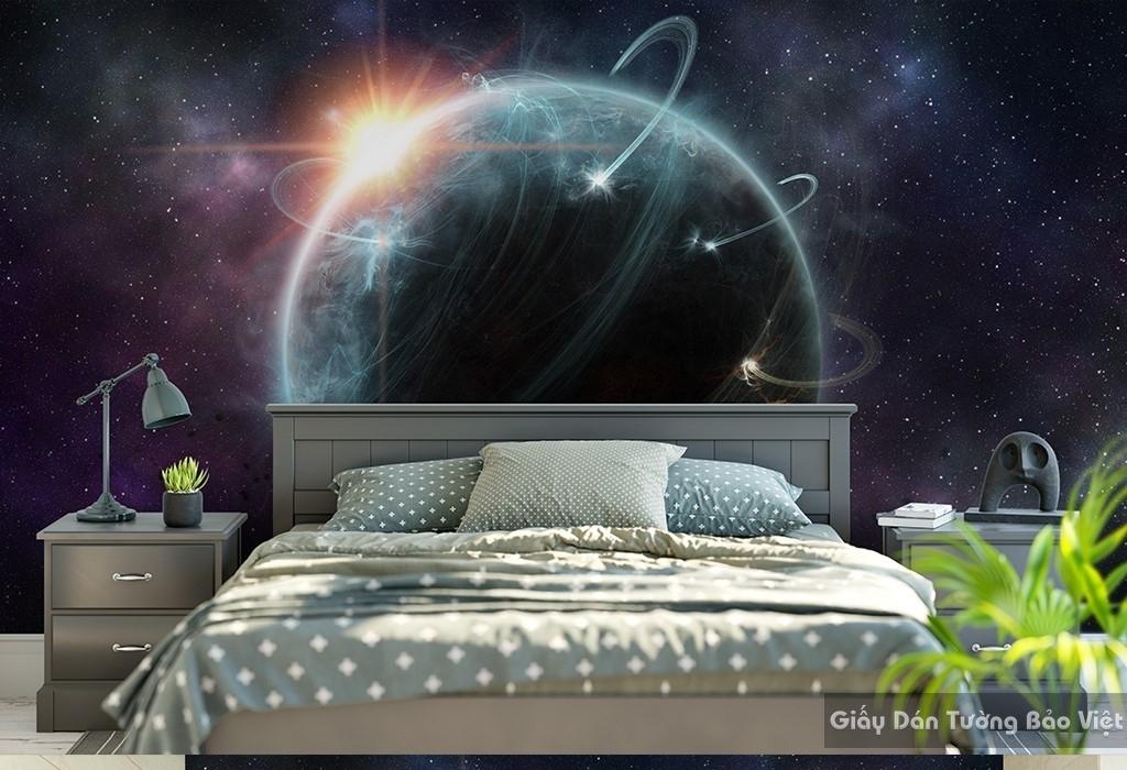Giấy dán tường Galaxy cho phòng ngủ C024