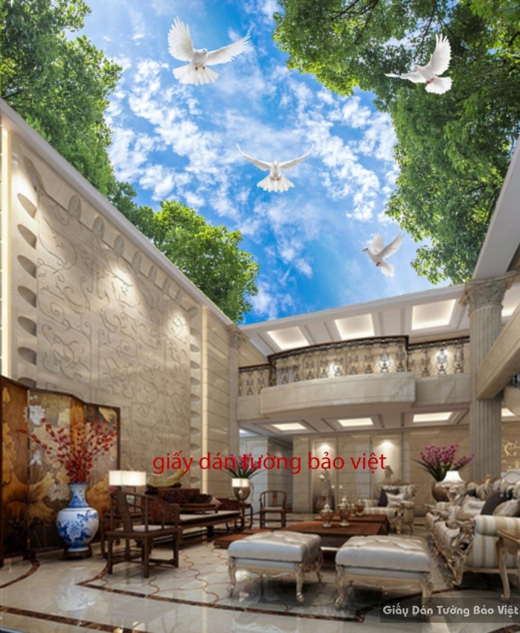 Giấy dán tường K16604747 dán trần nhà