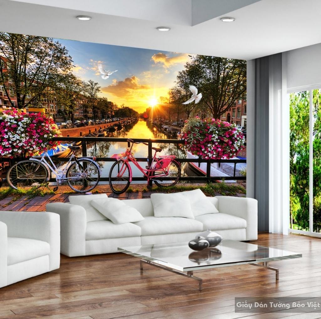 Giấy dán tường Phong cảnh 3D Fm042