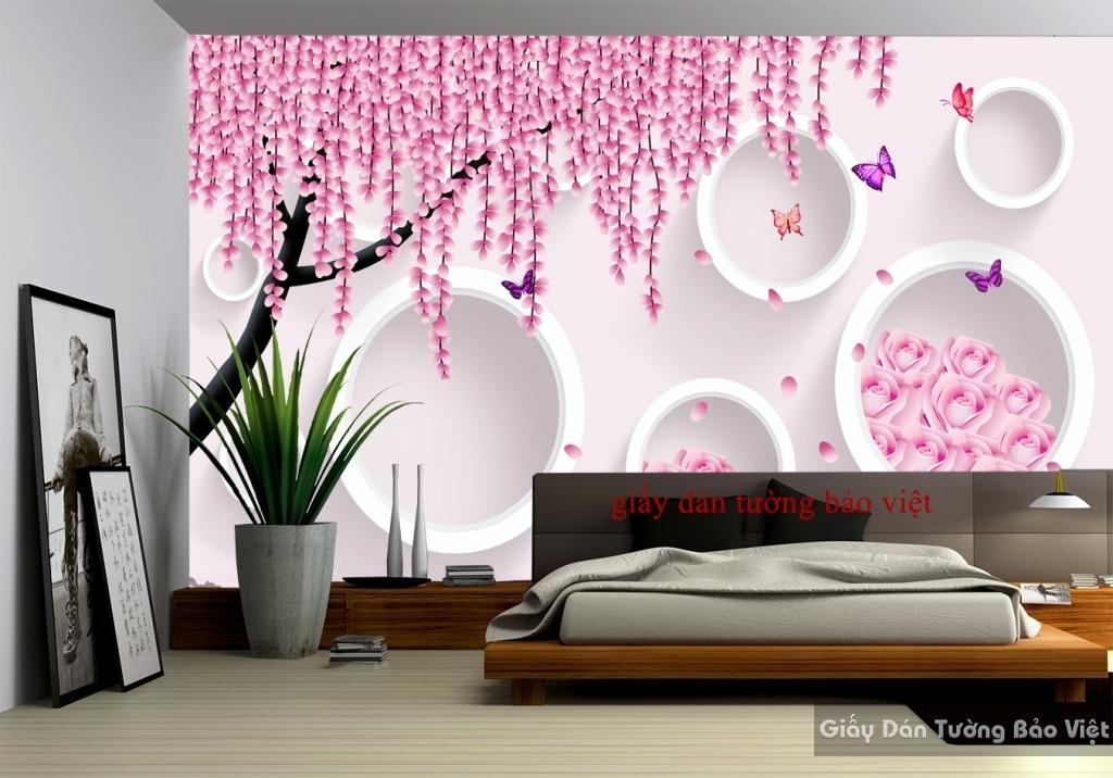 Giấy dán tường cho phòng ngủ 3D-019