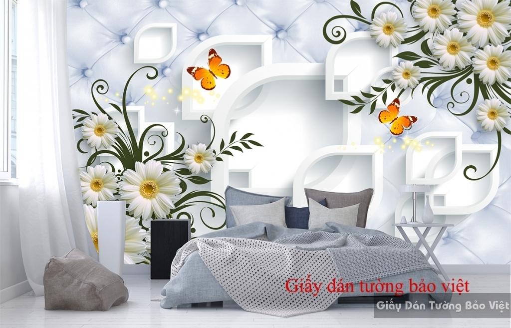 Giấy dán tường cho phòng ngủ 3D-026