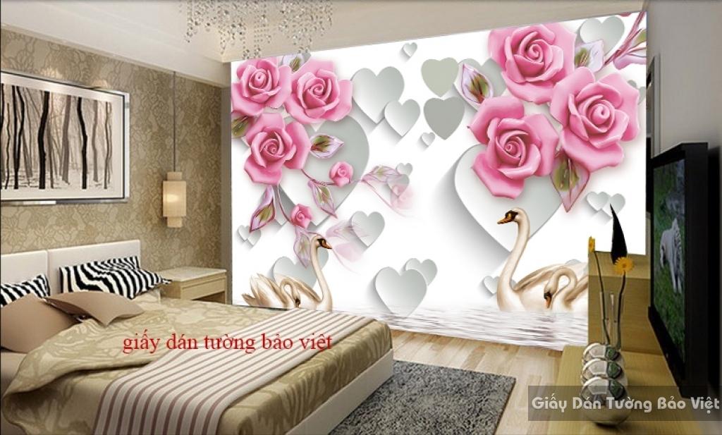 Giấy dán tường cho phòng ngủ 3D-032
