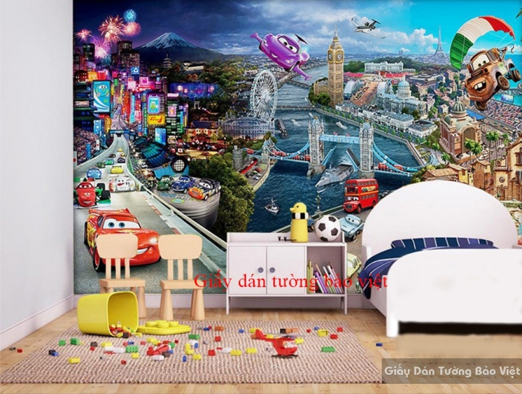 Giấy dán tường cho phòng ngủ của bé Kid059