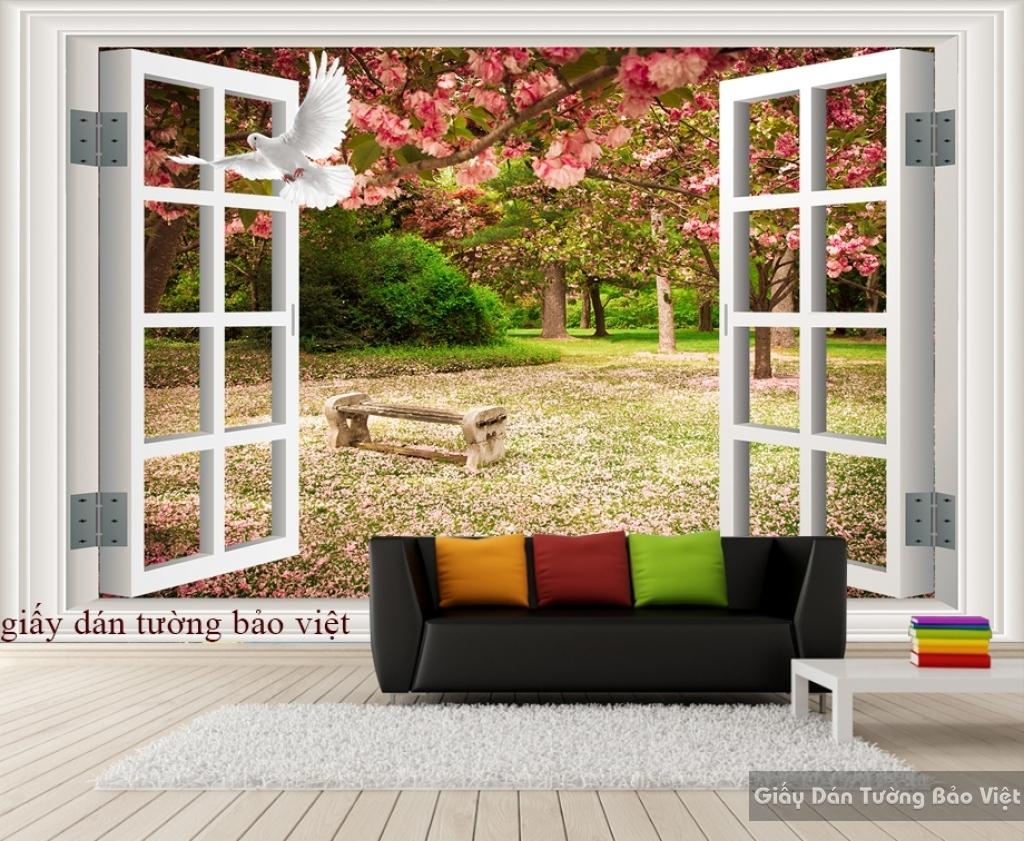 Giấy dán tường cửa sổ 3D ow001