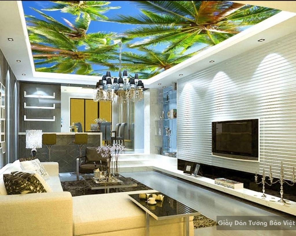 Giấy dán tường dán trần nhà 3D C022