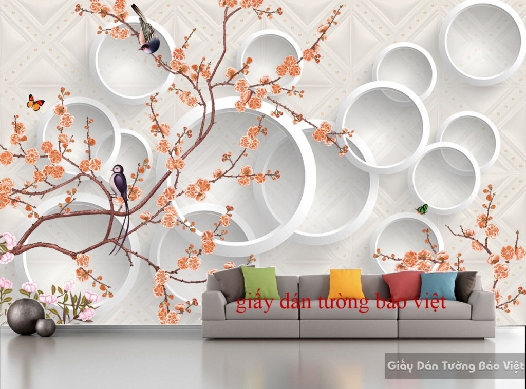 Giấy dán tường đẹp 3D-033