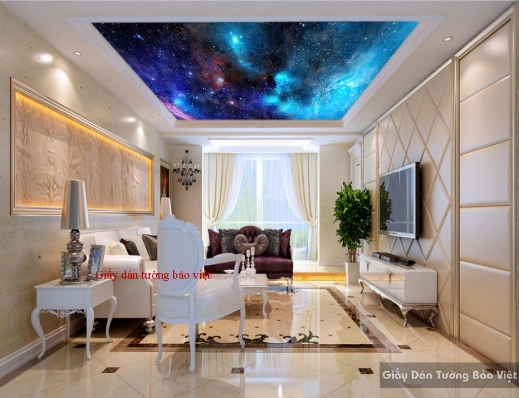 Giấy dán tường galaxy cho phòng ngủ C080