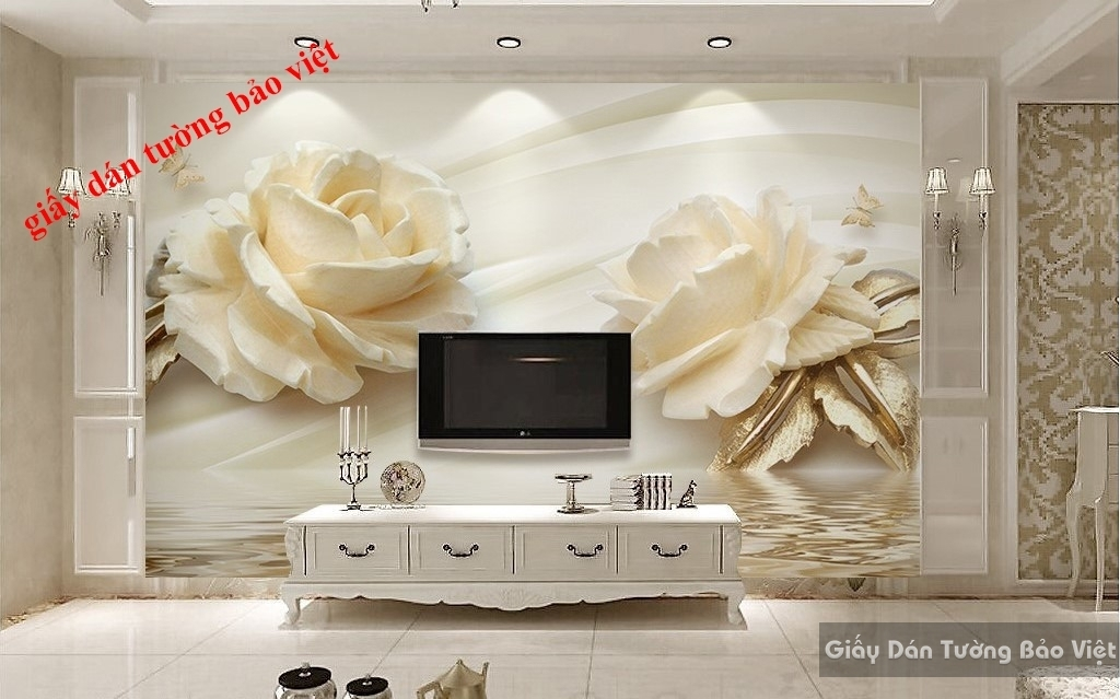 Giấy dán tường hoa 3D FL050