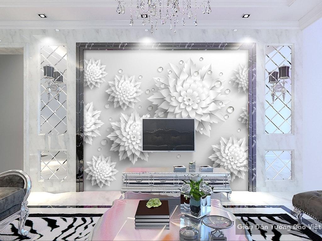 Giấy dán tường hoa 3D H011