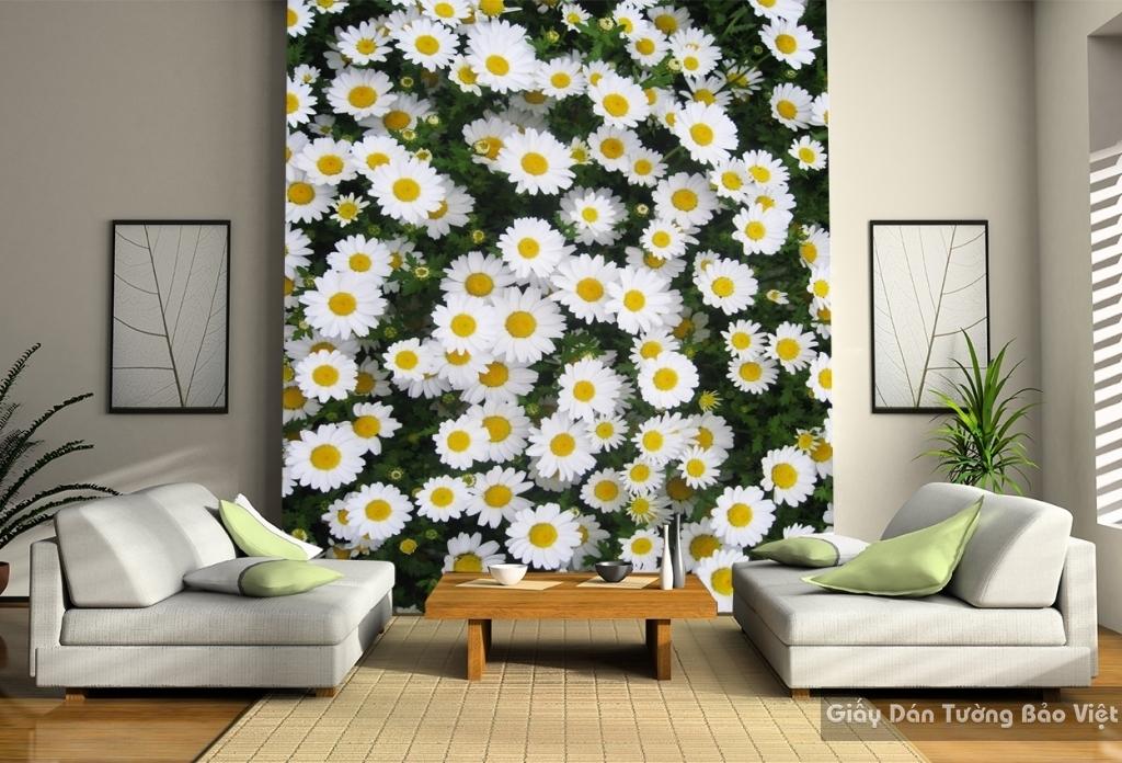 Giấy dán tường hoa 3D H014