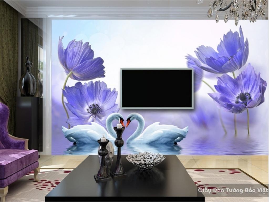 Giấy dán tường hoa 3D H033