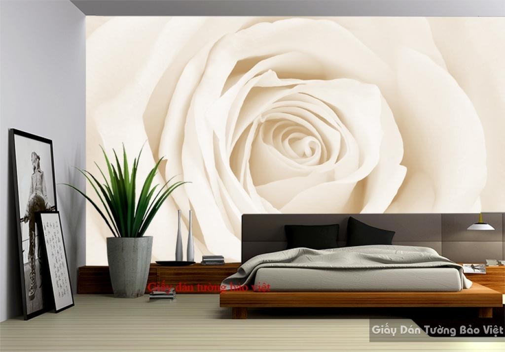 Giấy dán tường hoa 3D phòng ngủ H137