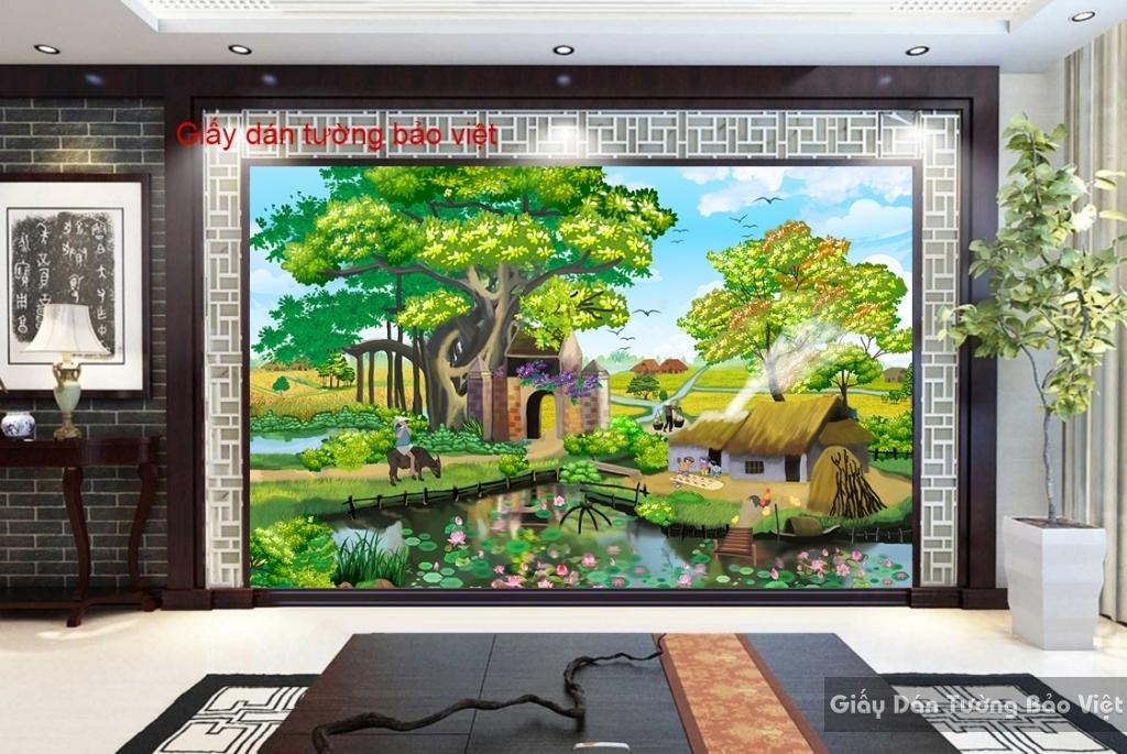 Giấy dán tường phong cảnh đồng quê vn ART004