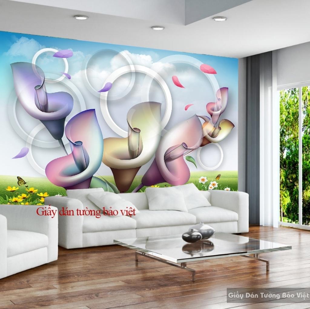 Giấy dán tường phòng khách 3D-047