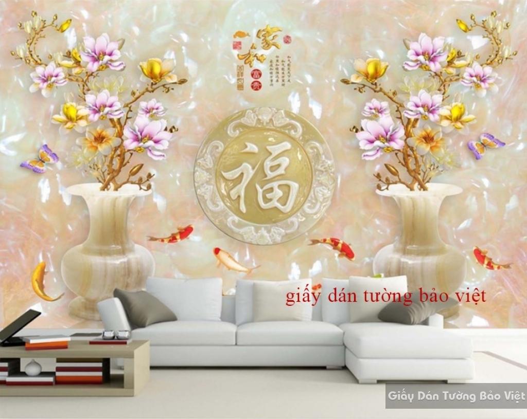 Giấy dán tường phòng khách 3D FL058