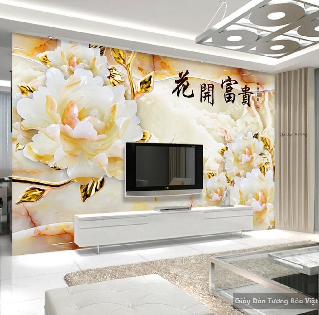 Giấy dán tường phòng khách 3D Fl048