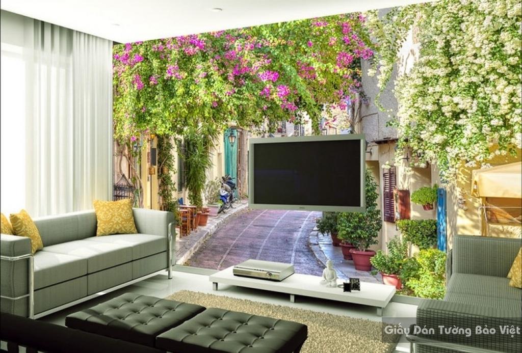 Giấy dán tường phòng khách 3D Fm023