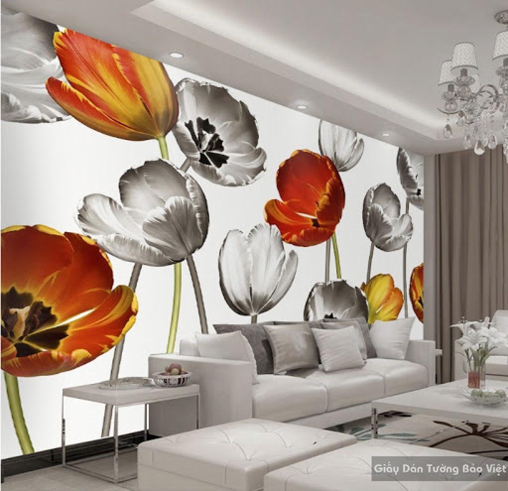 Giấy dán tường phòng khách 3D H018