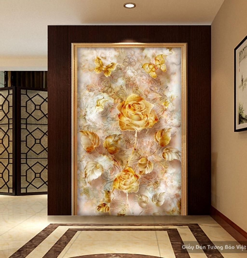 Giấy dán tường phòng khách 3D K15673619