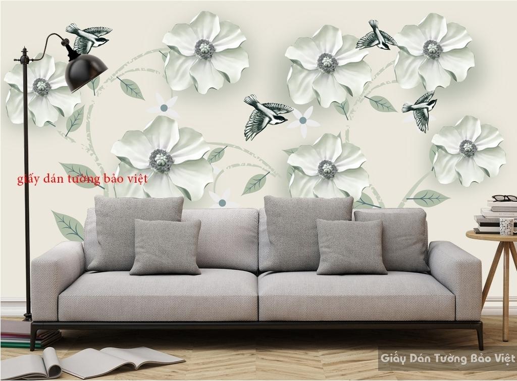Giấy dán tường phòng khách 3D K16477018