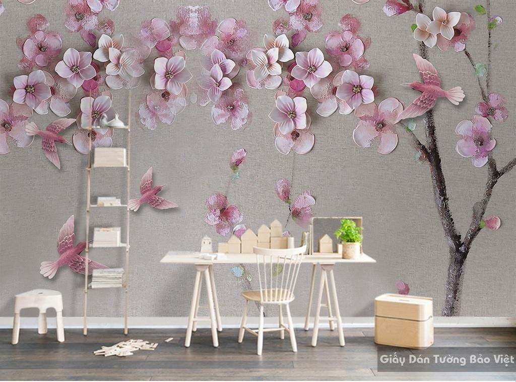 Giấy dán tường phòng khách 3D đẹp H068