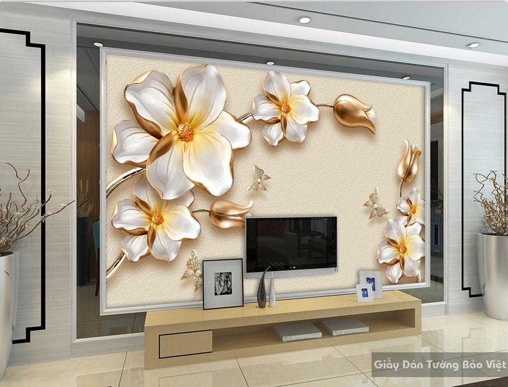 Giấy dán tường phòng khách 3D đẹp K16334782
