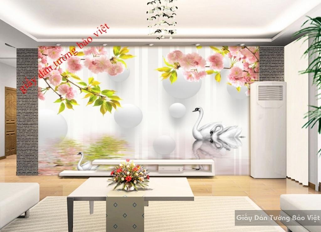 Giấy dán tường phòng khách 3d đẹp K15517724