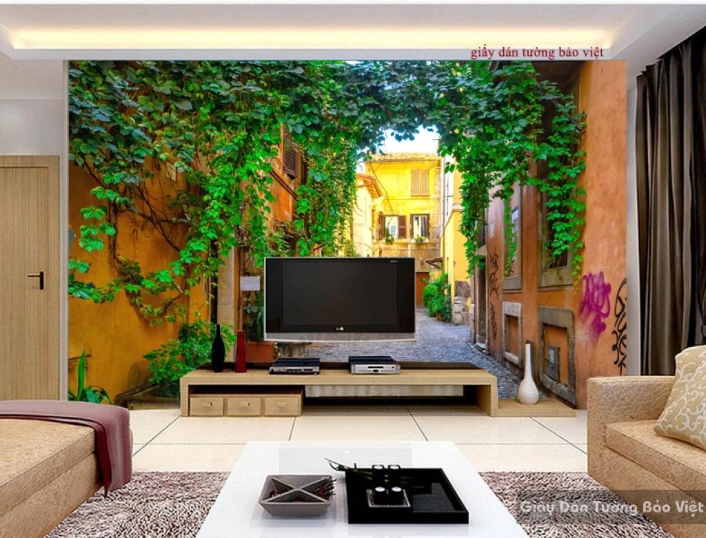 Giấy dán tường phòng khách đẹp Fm157