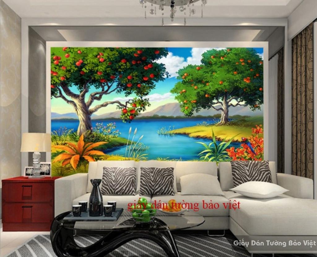 Giấy dán tường phòng khách đẹp Tr135