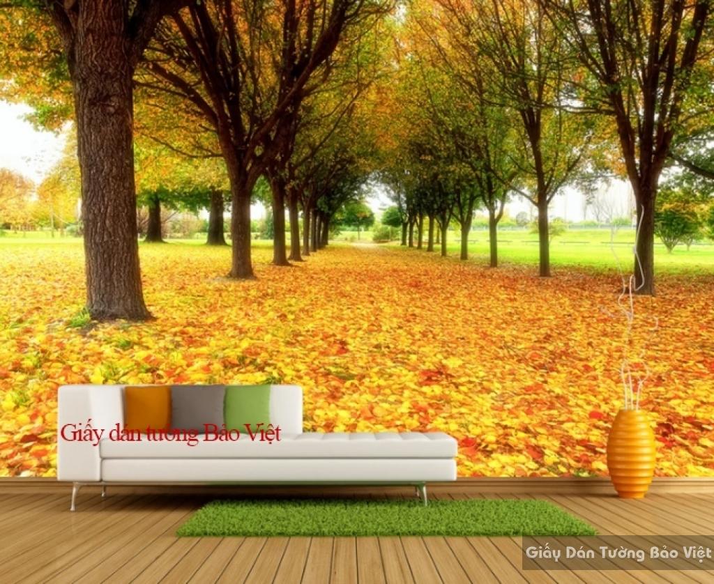 Giấy dán tường phòng khách mùa thu Tr145