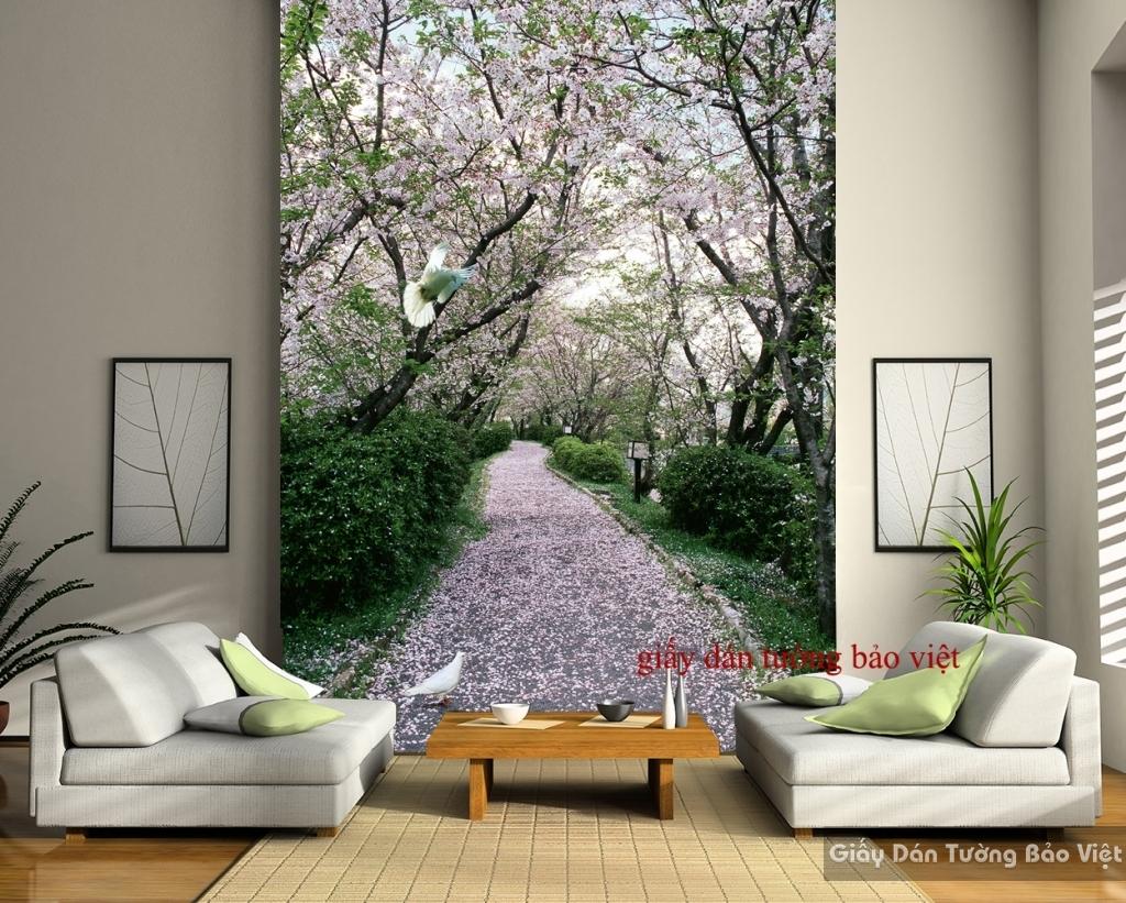 Giấy dán tường phòng khách phong cảnh Tr130
