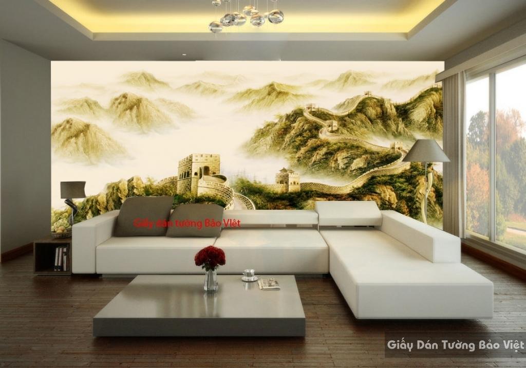 Giấy dán tường phòng khách sang trọng Fm200