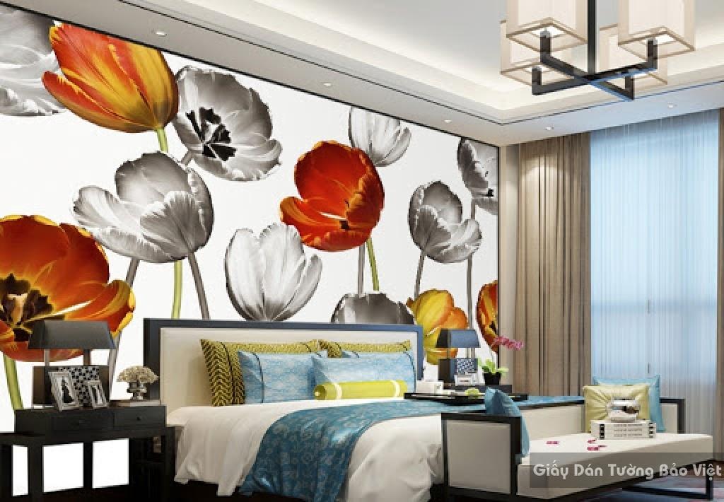 Giấy dán tường phòng ngủ 3D 018
