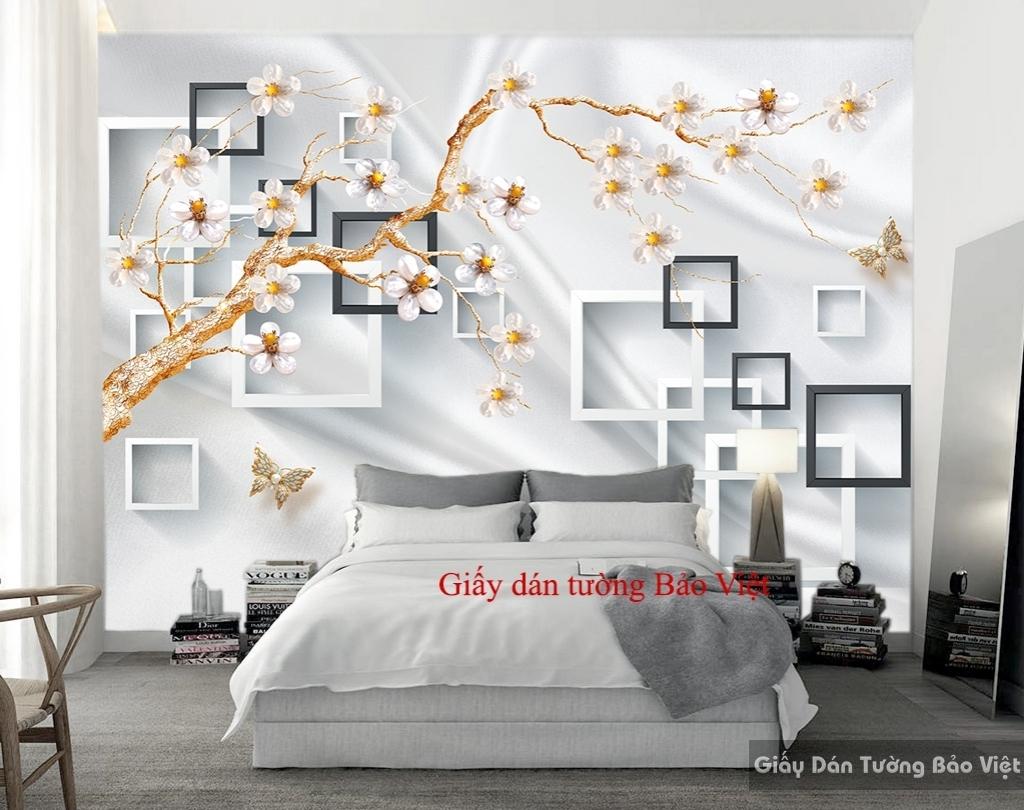 Giấy dán tường phòng ngủ 3D 035