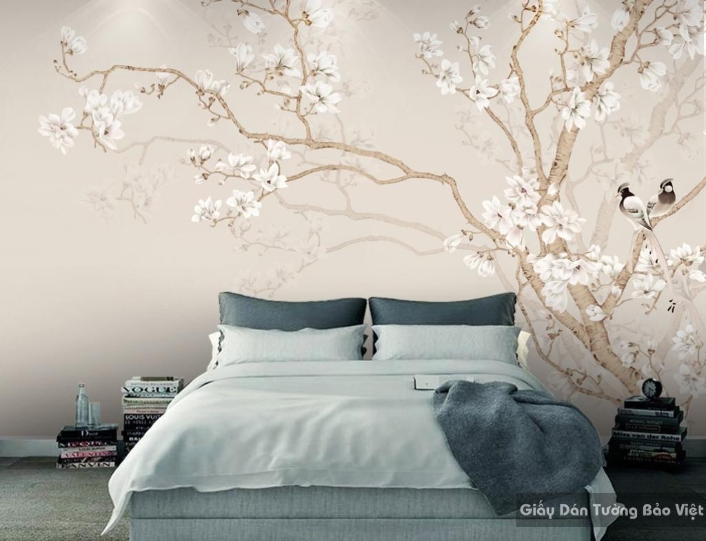 Giấy dán tường phòng ngủ 3D H076